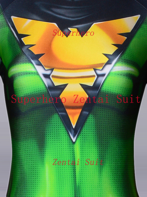 X-men Phoenix Jean Grey Costume 3D Printed Spandex X-men Superhero Costumes Halloween Cosplay Zentai Bodysuit Free Shipping