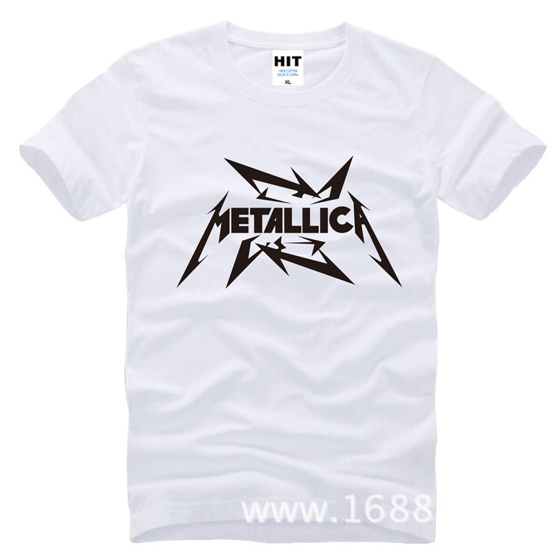 Metallica hard metal rock band Camiseta de los hombres Camiseta Para Hombres 2015 Nueva manga corta de algodón Casual Top Tee Camisetas Masculina