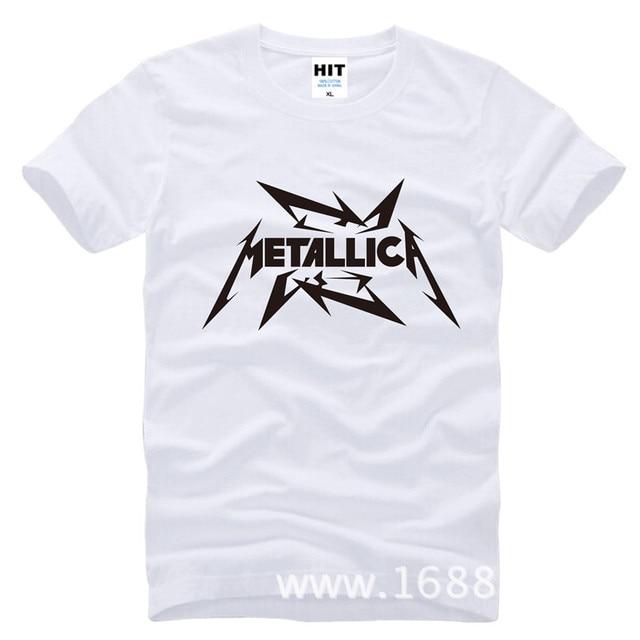 Metallica hard metal rock band Men's T-Shirt T Shirt For Men 2015 New Short Sleeve Cotton Casual Top Tee Camisetas Masculina