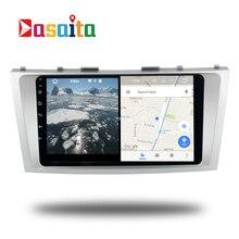 Android 7.1 GPS Navi Radio para Toyota Camry 2007-2011 cabeza unidad de Dispositivo de Cabeza estéreo Navegador mapa libre USB WIFI AUX reproductor de Vídeo