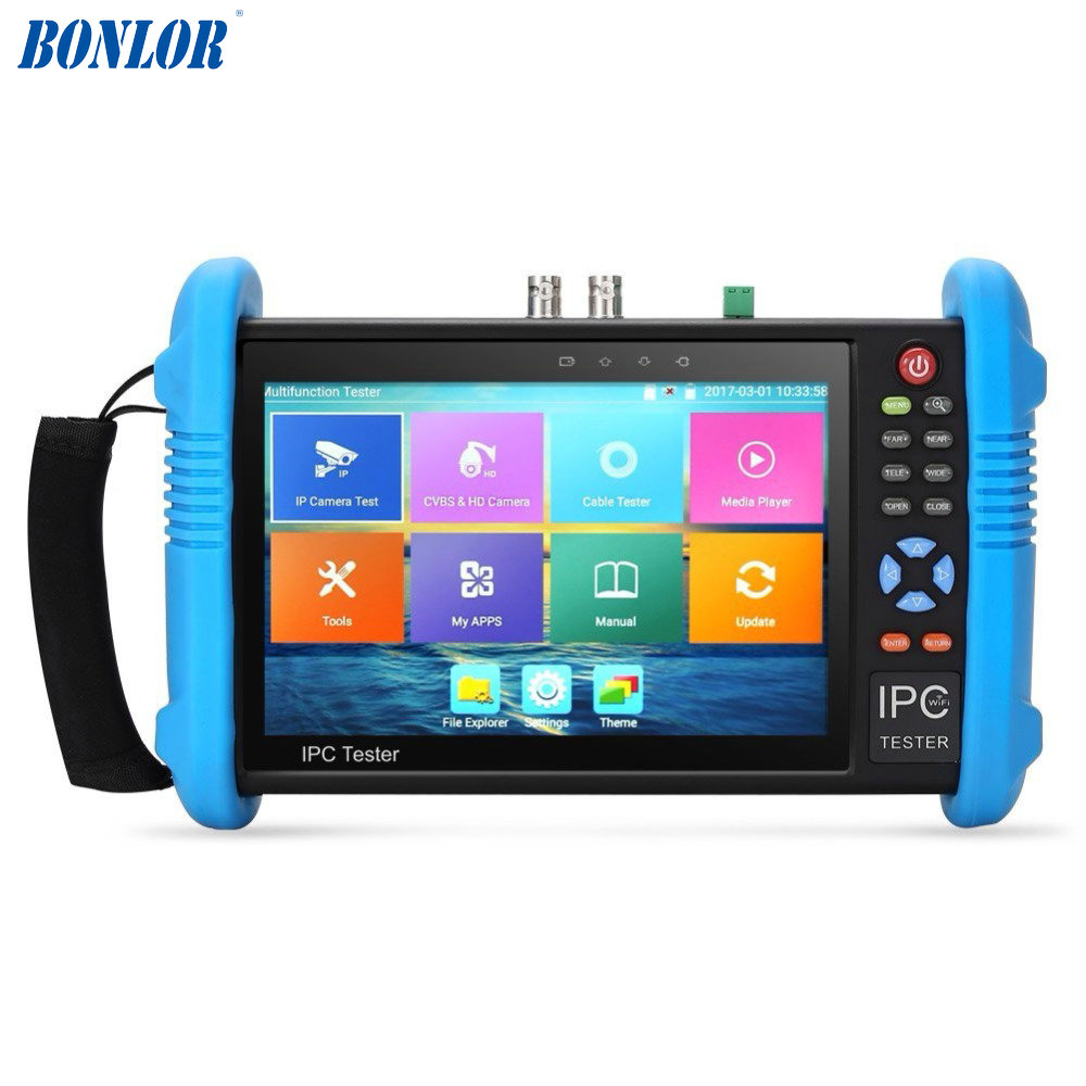 Upgraded 7 inch IPS Touch Screen H.265 4K IPC-9800 ADH Plus IP Camera Tester TVI CVI AHD IP CVBS CCTV Tester HDMI Input&Output 2017 new hot sale 7inch cctv tester for ipc 9800 movtadhs plus