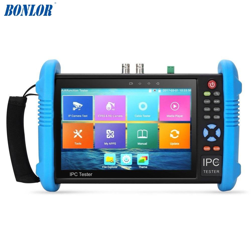 Upgraded 7 Inch IPS Touch Screen H.265 4K IPC-9800 ADH Plus IP Camera Tester TVI CVI AHD IP CVBS CCTV Tester HDMI Input&Output