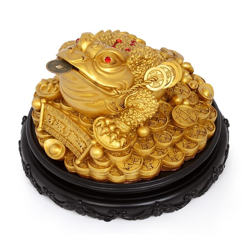 Sveķu statīvi krupis Ķīnas laimīgās naudas vardes skulptūra un - Mājas dekors