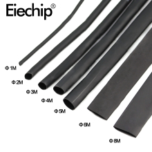 8 Meter/set терм усадочная трубка комплект 1/2/3/4/5/6/8/10 мм 2:1 Черный Термоусадочные трубки термоусадочная машина для оплетки Обёрточная бумага DIY комплект проводов
