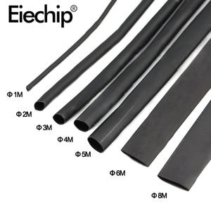 8 Meter/set Heat Shrink Tube kit 1/2/3/4/5/6/8/10mm 2:1 Black Heat Shrink Tubing Shrinkable Sleeving Wrap DIY Connector wire kit