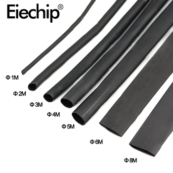 Black Heat Shrink Tubing Shrinkable Sleeving Wrap DIY Connector wire kit