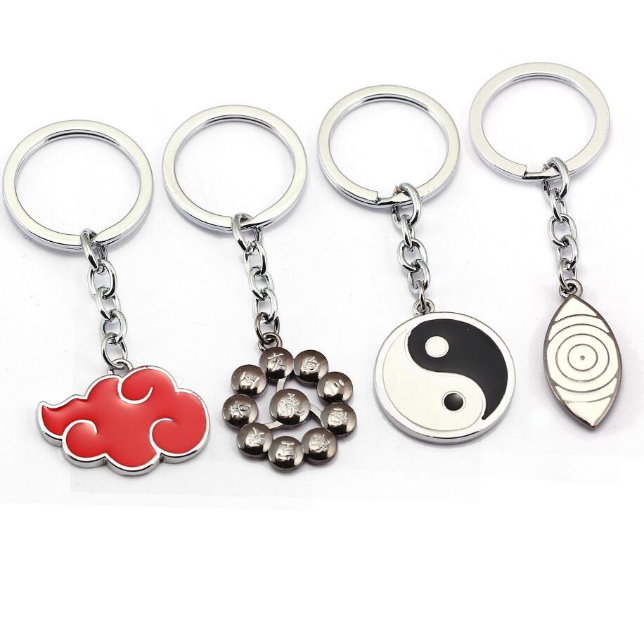 Naruto Keychain Kakashi cosplay Uchiha Sasuke Accessories toys Props Itachi akatsuki madara Props Hot