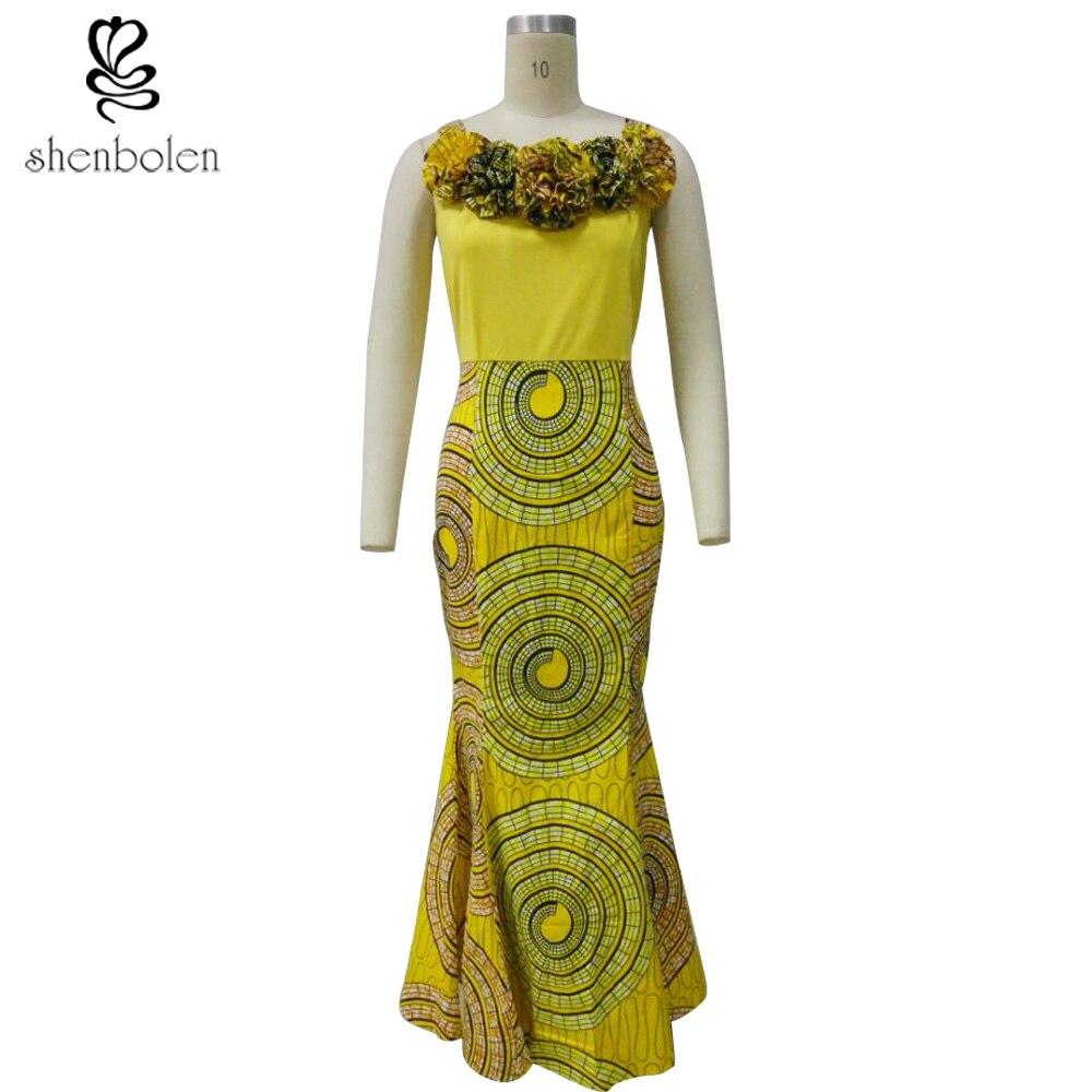 African Ankara dame sexy sleeveless langes abendkleid Frauen Afrika ...