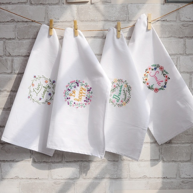 Blanco de alta calidad de algodón súper absorbente bordado toalla ...