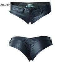 Fause PADAUNGY 2017 בסגנון מועדון הלילה סקסי נמוך מותן אלסטי ג 'ינס PU רוכסן קישוט בוטון חם מכנסיים קצרים שחורה וחוף קיץ