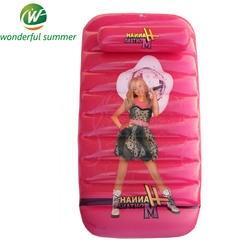 90*50*20 см красный мультфильм девочка принцесса бассейн плавающей строки Плавание плот детский надувной Borad кровать с подушка детский