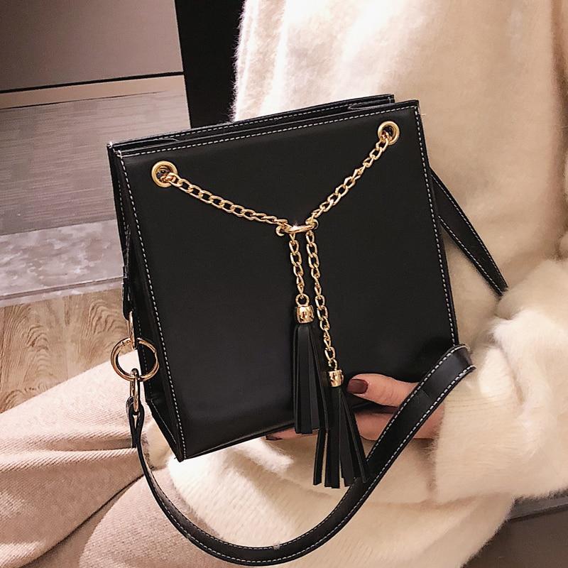 Women/'s PU Leather Shoulder Bag Purse Tassel Crossbody Messenger Handbag Fashion