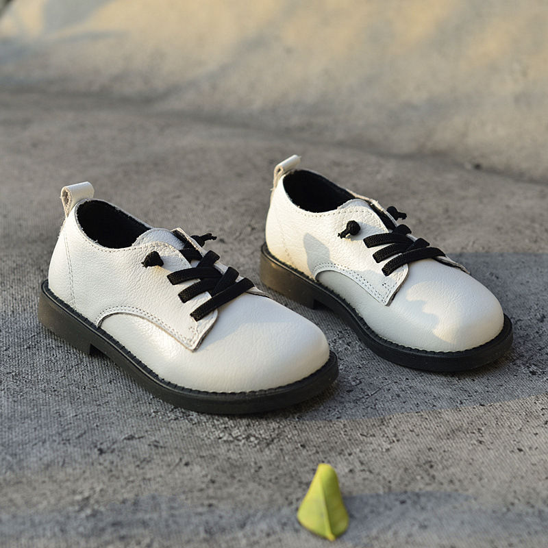 Genuine Leather Children School Leather shoes Boys Oxfords Loafers shoes British style Kids Sneakers Size 26-30