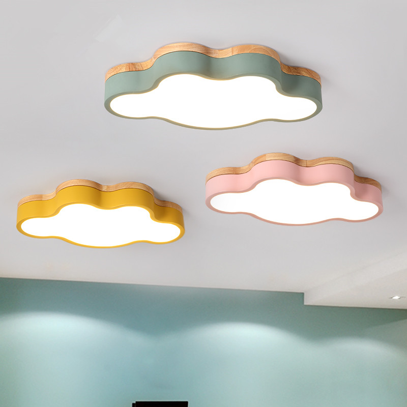 Modern LED Ceiling Light Indoor Lamp wood color cloud Metal Kitchen Bedroom Foyer living Shop Decorate Light Fixture AC110-265VModern LED Ceiling Light Indoor Lamp wood color cloud Metal Kitchen Bedroom Foyer living Shop Decorate Light Fixture AC110-265V