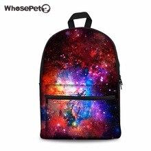 Whosepet Galaxy модная одежда для девочек школьные повседневные Рюкзаки для мальчиков мужчин звездное небо узор Женская парусиновая дорожные сумки