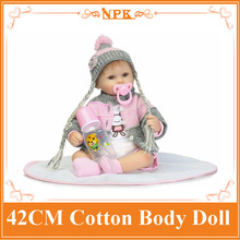 """Bright Eyes About 17"""" Doll Baby Born With Fashion Design Sweater Best Gift For Children About 3 Years Old Unique Doll For Girls"""