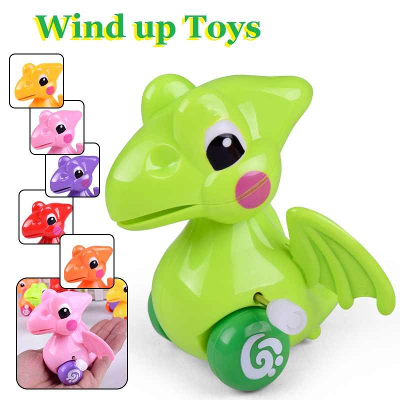 Wind Up dinosaur Animals Toys Baby Classic Cute Cartoon Kids Running for Children Educational Toy Birthday gift