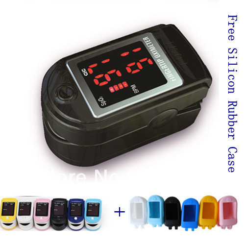 Best Price!!! Free Silicon Rubber Cover!!! CMS50DL Finger SPO2 Monitor, Fingertip Pulse Oximeter Blood Oxygen Saturation Monitor