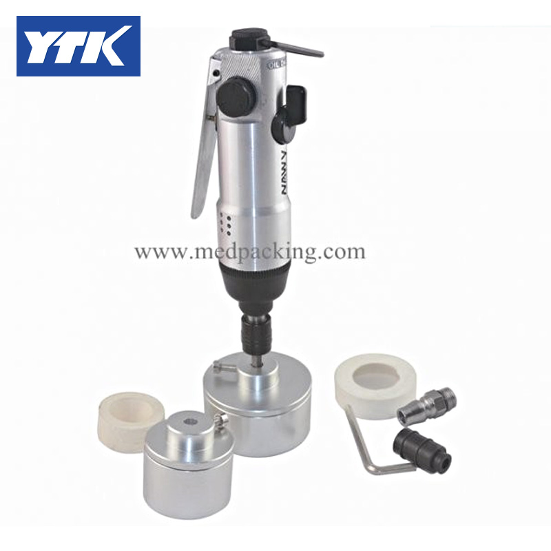 YTK Portable Pneumatic Capping Machine grind