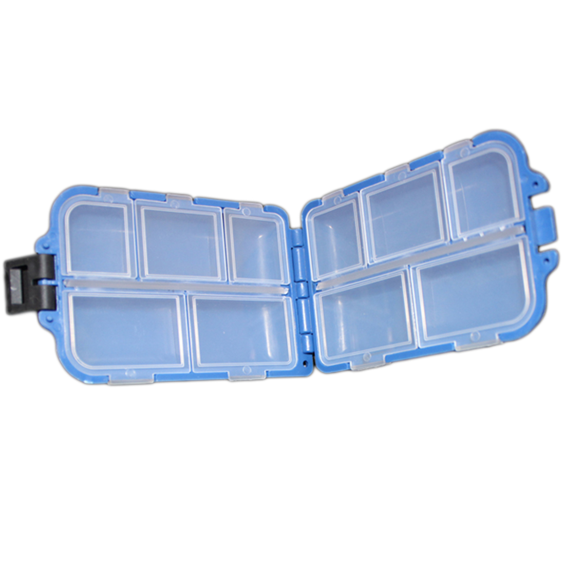 New 10 Compartments Storage Case Fly Fishing Lure Spoon Hook Bait Tackle Case Box Fishing Accessories Tools