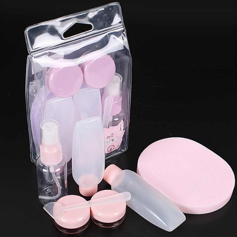 7PCS/Set Durable Refillable Bottles Set Plastic Pressing Spray Bottle Travel Package Cosmetics Bottles Makeup Tools