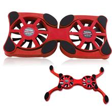 USB Foldable Laptop Cooling Pad Double Fans Heat Dissipation Notebook Cooler Anti-slip