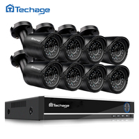 8CH 1080P HDMI DVR AHD M HD CCTV System 8PCS 1200TVL 720P Camera Outdoor Waterproof Night