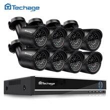 Techage AHD 8CH CCTV System 720P HDMI DVR 8PCS 1.0MP 1200TVL IR Outdoor Waterproof CCTV Camera Home Security Surveillance Kit