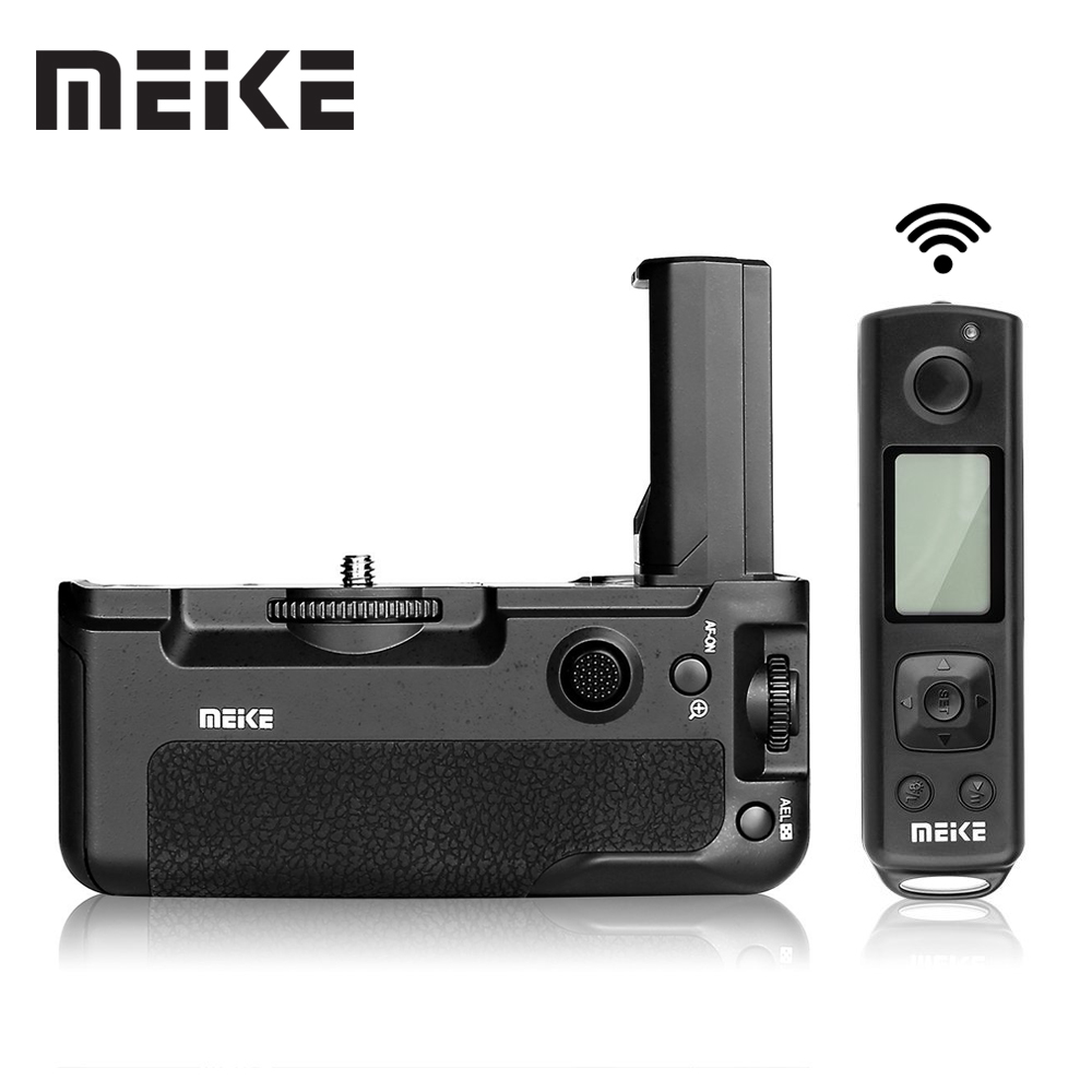 цена Meike MK-A9 Pro Battery Grip 2.4GHz Remote Controller to Vertical-shooting Function for Sony A9 A7RIII A7III A7 III camera