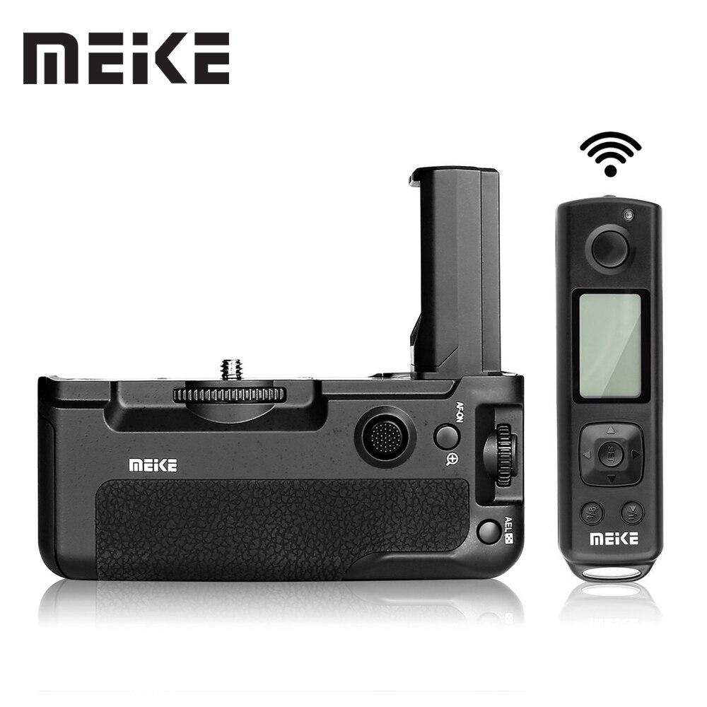 Meike MK-A9 Pro batterie Grip 2.4GHz télécommande à la fonction de prise de vue verticale pour Sony A9 A7RIII A7III A7 III caméra