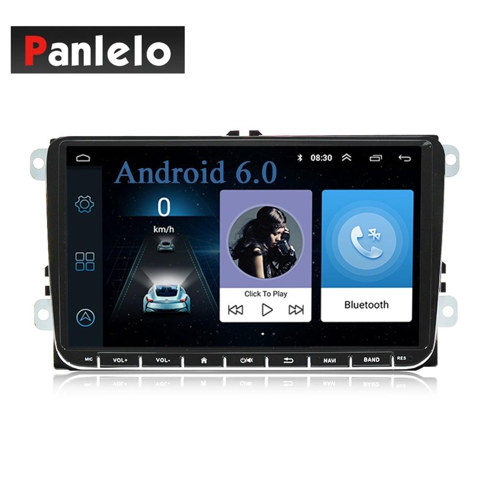 For VW Android Car Stereo Panlelo S5 2 Din GPS Navigation Head Unit Auto Radio AM/FM Music Video Multimedia Player For Polo Golf panlelo s10 s10 plus 2 din android head unit car stereo gps navigation steering wheel control radio am fm 1gb 2gb ram 16gb 32g