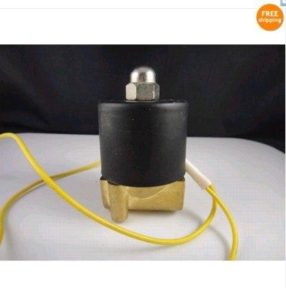 """220 V AC 2 W 1/"""" Электрический Соленоидный клапан для поезда воды Воздушный трубопровод"""