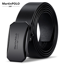 MartinPOLO Automatic Buckle Belts For Men Genuine Leather Cowskin Black Belt High Quality Business Male Mens MP00901P