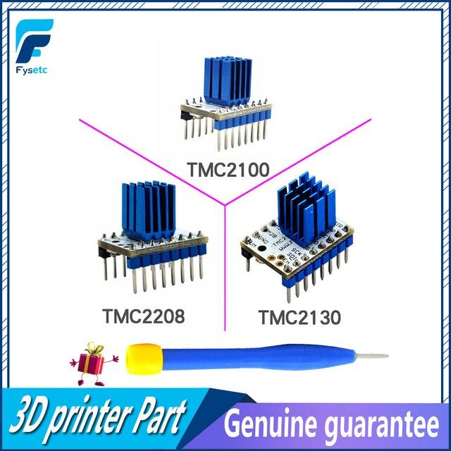 5 шт. TMC2100 V1.3 TMC2130 TMC2208 шагового двигателя StepStick Mute драйвер бесшумный отличную защиту для 3d принтера звездного неба V1.3 Запчасти