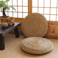Japan Style Grass Weaving Round Thicken Cushion Tatami/Yoga /meditation/bay-window /floor Decorative Seat Cushion
