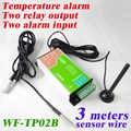 Freies verschiffen Zwei relais schaltausgang und 2 alarmeingang GSM Temperatur monitor und SMS alarm und datenlogger durch e-mail