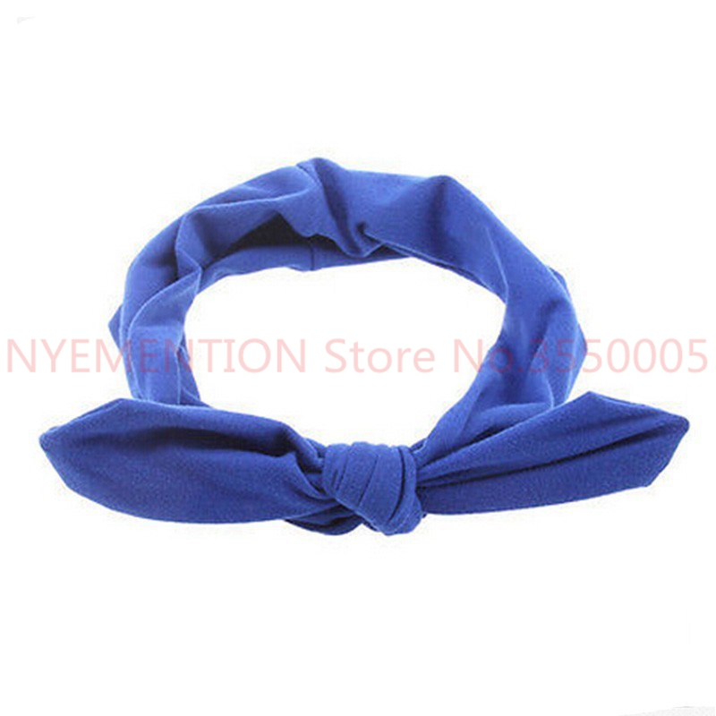 Women's Hair Accessories Generous 100 Pcs/lot Women Elastic Rabbit Bow Style Hair Band Headband Top Knot Turban Head Bands Hairbands Headwear Ornament Accessories Bright Luster
