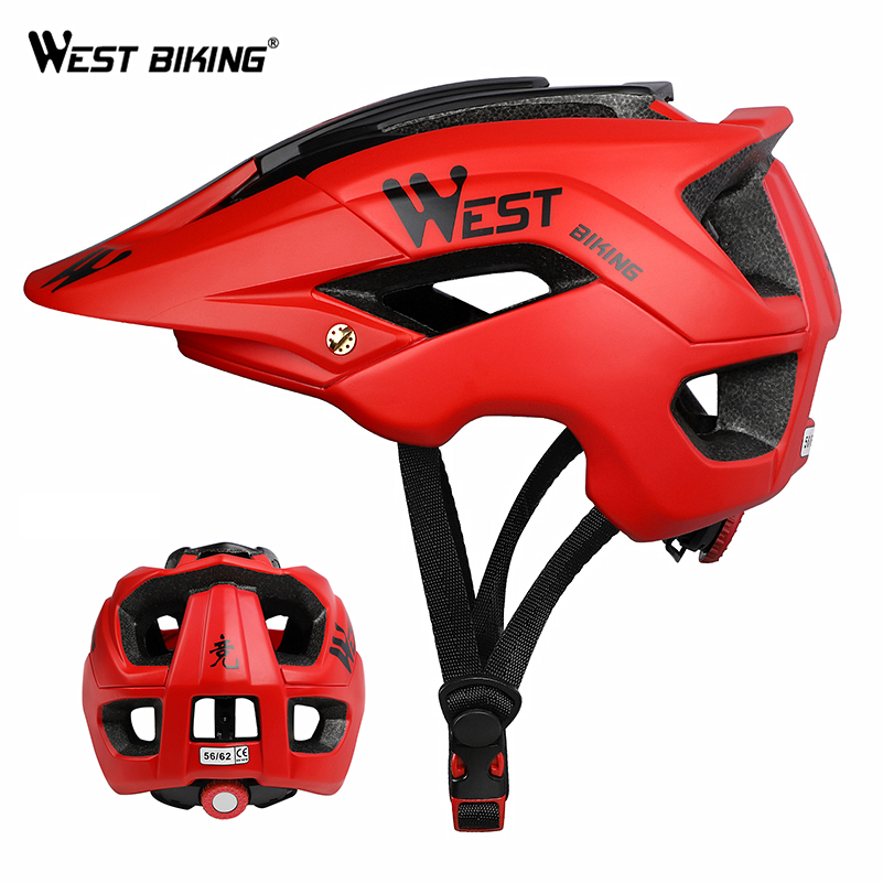 Mtb Cycling Bike Sports Safety Helmet Off-road Super Mountain Bike Cycling Helmet Mens Outdoor Riding Protective Helmet Bicycle Accessories
