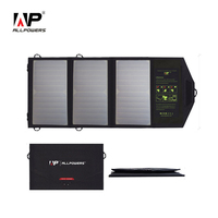 ALLPOWERS 21W Solar Phone Charger Dual USB Output Ports Mobile Phone Charger For IPhone Samsung Sony