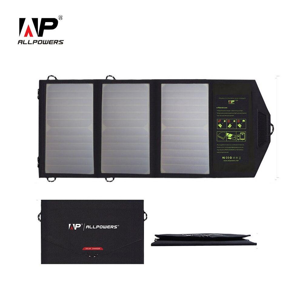ALLPOWERS Carregadores de Energia Solar para o Telefone Móvel Dupla Saída USB de Carregamento para iPhone iPad Samsung Sony HTC LG etc.