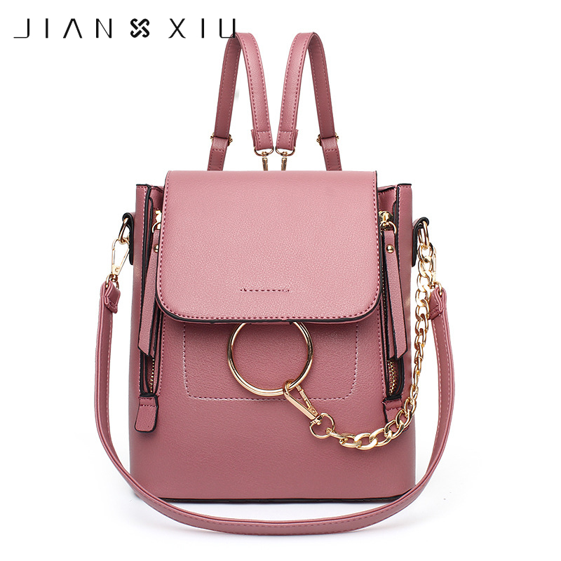JIANXIU Fashion Women Backpack Woman Mochila Escolar School Bags Leisure Shoulder Bags Crossbody Bag For Teenagers Girls girsl kid backpack ladies boy shoulder school student bag teenagers fashion shoulder travel college rucksack mochila escolar new