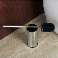 Stainless Steel Floor Toilet Brush Decontamination Belt Brush Holder Chrome Toilet Brush Toilet Cleaning Supplies