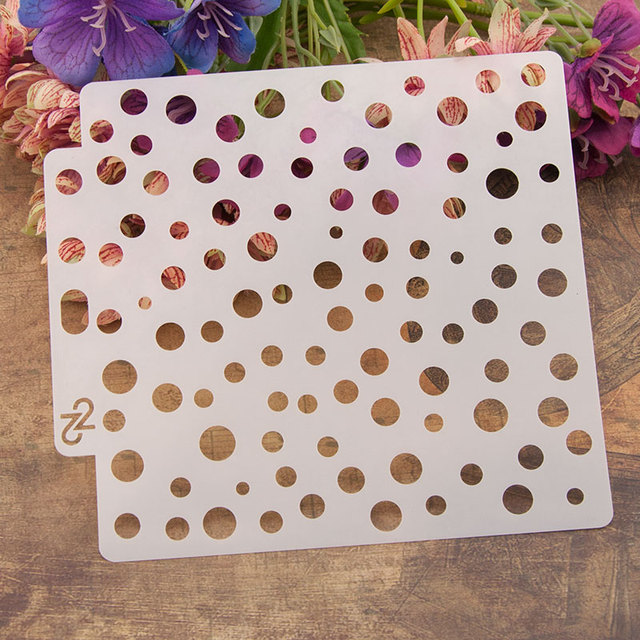 13cm 5 1 Polka Dot Diy Layering Stencils Wall Painting Sbook Coloring Embossing Al Decorative Paper Card Template On Aliexpress Alibaba Group