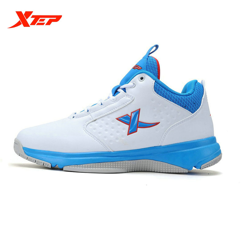 ФОТО XTEP Original Men's Basketball Shoes Outdoor Cushioning High Sneakers XTEP Support Stability Footwear Sports Shoes 985319129975