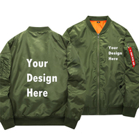 USA SZ Drop Ship Promotional Customize Logo Design Print Winter Military MA 1 Bomber Jackets Men Army Tactical Jacket And Coats