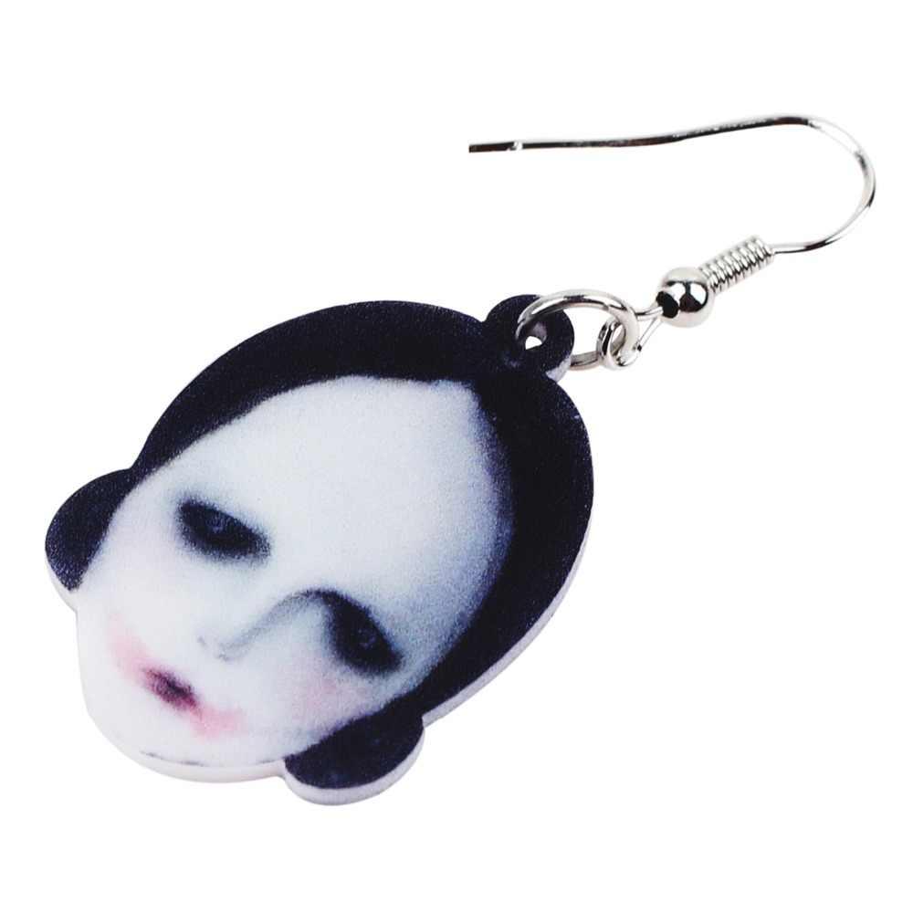Bonsny de acrílico de Halloween horrible muñeca pendientes largo pendientes joyería de la novedad para chicas mujeres señoras adolescentes venta al por mayor