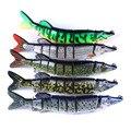 1 шт Высокое качество жесткое соединение Тонущая приманка 8 сегментов искусственная наживка; рыболовный воблер  похожий на настоящую рыбу 20 ...
