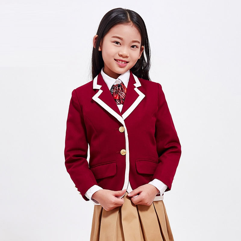 (Only One Jacket) Girls Suit Party Clothing Performance Wear Newest British Style Kids Top Coat Blazers Princess Outfits 1007