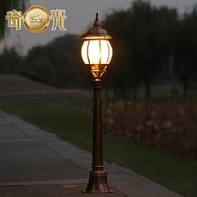 Европа ретро сад полюс лампы путь столба света открытый газон фонарный столб полюс свет тыквы форма светильника черный/бронза 220 В/110 В
