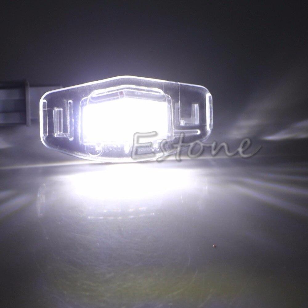 One Pair License Plate LED Light Lamp For 99-14 Honda Accord CRV/Acura MDX TL TSX CT лампа для чтения iculed 2 5630 5smd 12v acura mdx rdx rlx tl tsx